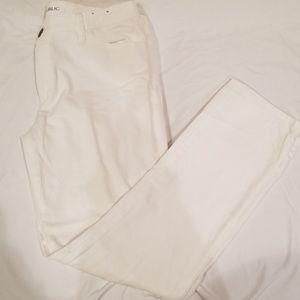White jeans- banana Republic (skinny legged)